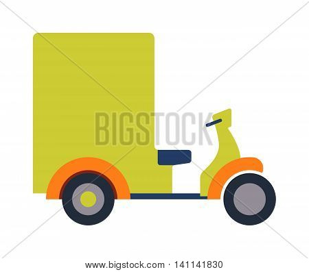 Rickshaw indonesia jakarta taxi travel transportation icon flat vector illustration. Rickshaw in retro style taxi transport and wheel tourism. Traditional india rickshaw silhouette cycle cab.