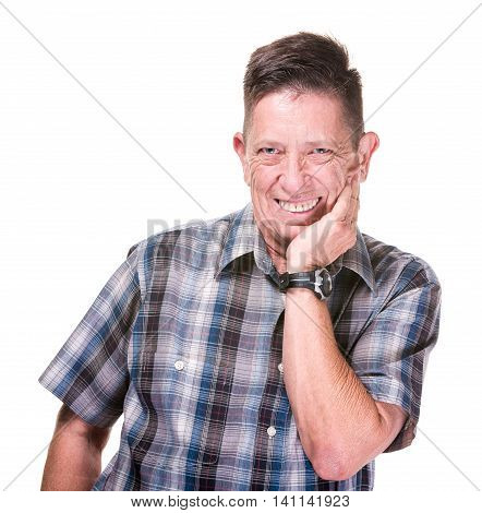 Closeup Of Grinning Transgender Man