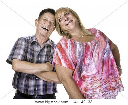 Laughing Transgender Man And Woman