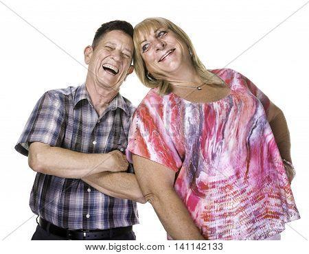 Laughing Transgender Man And Woman