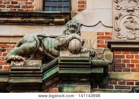 Lion Sculpture On Frederiksborg Castle