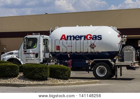 Indianapolis - Circa July 2016: AmeriGas Truck. AmeriGas is a propane company serving residential commercial industrial agricultural and motor fuel customers II