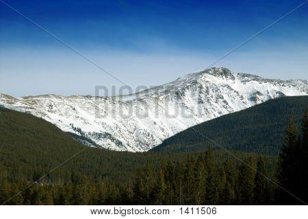Colorado Mountains In Winter