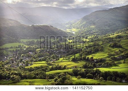 View from Wansfell near Ambleside, Lake District
