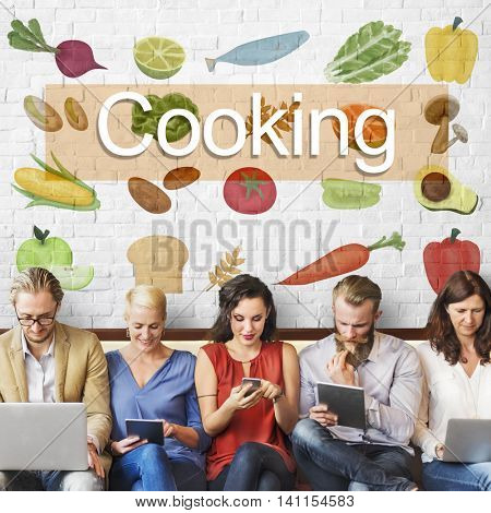 Cooking Eating Good Food Concept