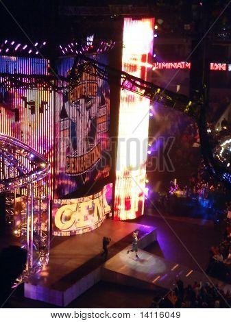 John Cena Raises Hands Into Air As He Walks Toward Ring During Pay-per-view