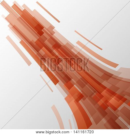 Abstract orange elements technology background, stock vector