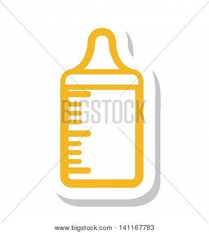 bootle milk baby icon vector illustration design