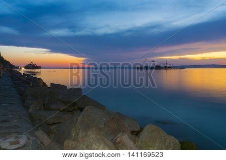 Sunset At The Golden Beach