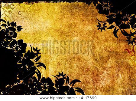 floral style backgrounds frame poster