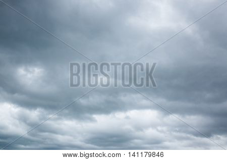 heavy cloudy sky, background of gray clouds