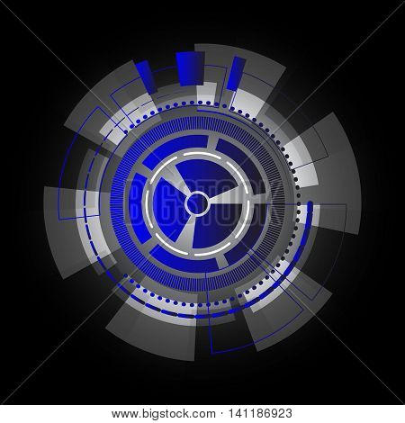 Technology information gears abstract background stock vector