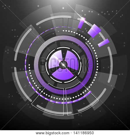 Technology transfer gears abstract background stock vector