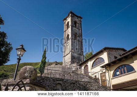 Garfagnana Tuscany Italy - Old Church of Gorfigliano Serchio Valley Lucca