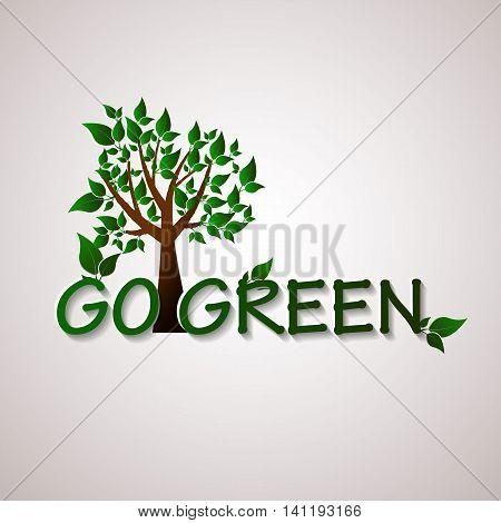 Go green design template. Environment vector illustration. Ecofriendly concept