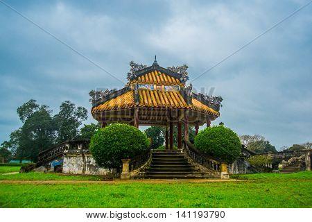Small Pavilion In Hue Citadel , Vietnam,asia
