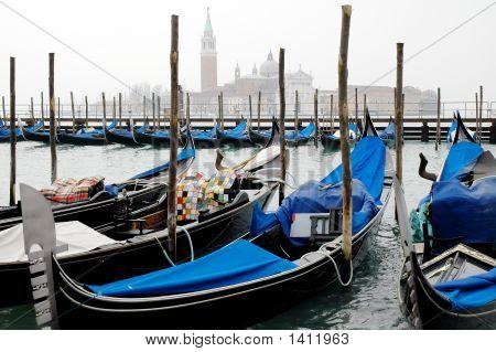 Gondola'S In Venice Italy