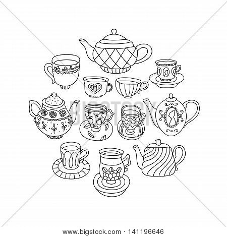 Teapots And Cups.eps