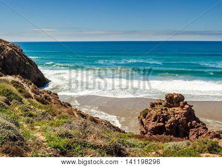 Sunny day on a baech near Sidi ifni Morocco