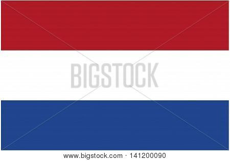 Flag of Netherlands Dutch Flag Netherlands Vector Europe National