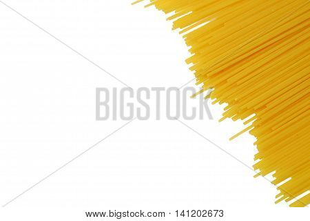 Raw Pasta Isolated On White