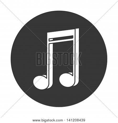 flat design semiquaver musical note icon vector illustration