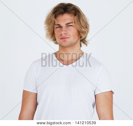 Portrait of a handsome young man