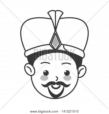 flat design balthazar magi icon vector illustration