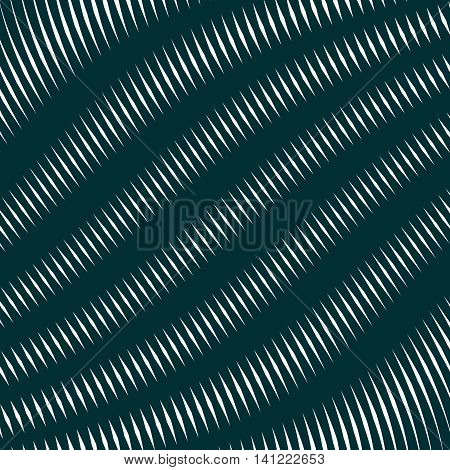 Moire pattern op art vector background. Hypnotic backdrop with geometric black lines.