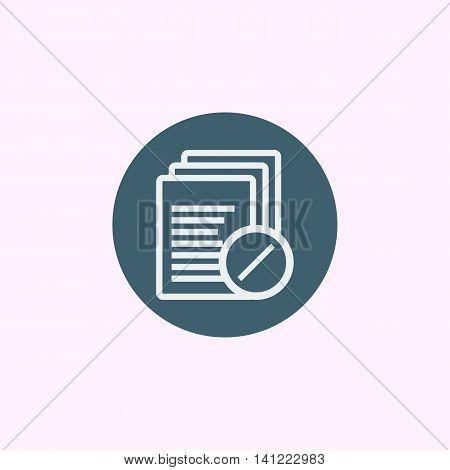 Files Reject Icon In Vector Format. Premium Quality Files Reject Symbol. Web Graphic Files Reject Si