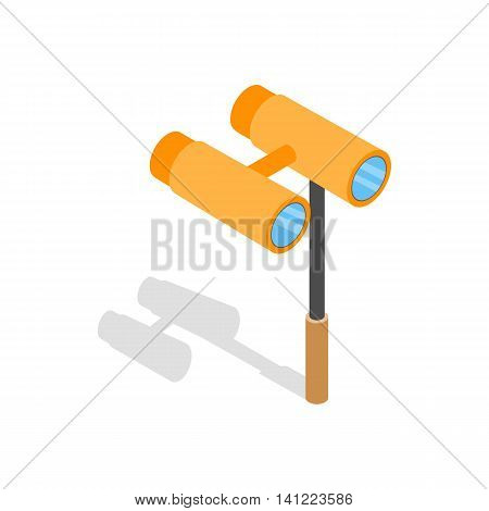 Opera glasses icon in isometric 3d style on a white background