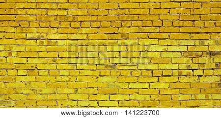 Brickwork, brick, pattern of old brick surfaced, rough brick wall, brickwall, brick house, yellow brick, brick wall