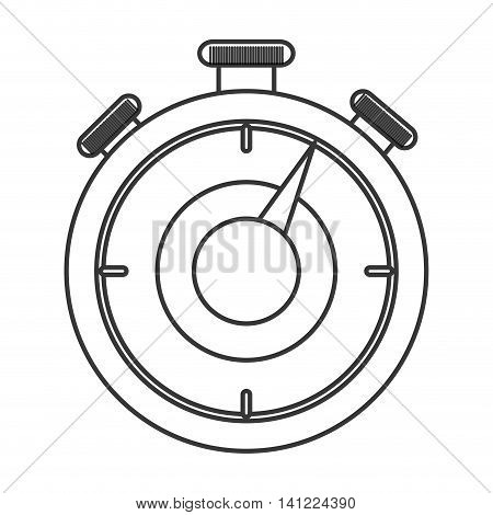 flat design analog chronometer icon vector illustration