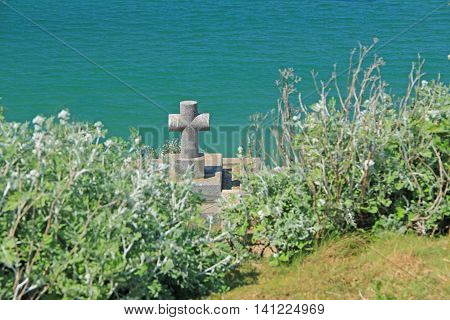 Grave of Francois-Rene de Chateaubriand on the Island of Grand Be, France