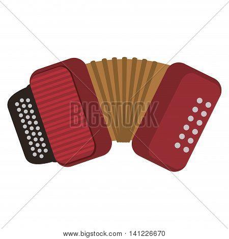 flat design single accordion icon vector illustration