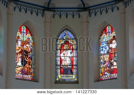 MALACCA MALAYSIA - JUL 16 2016: Church of St. Francis Xavier. Malacca City is the capital city of the Malaysian state of Malacca. It was listed as a UNESCO World Heritage Site on 7 July 2008