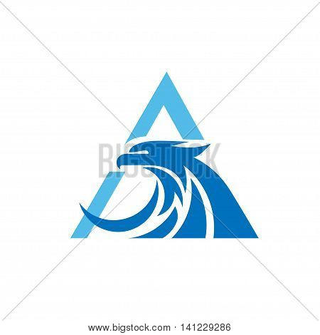 letter A with eagle consulting element logo icon concept
