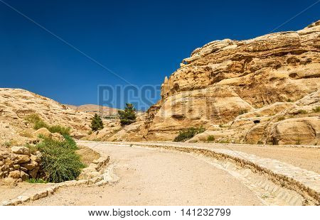 The road to the Siq at Petra - Jordan