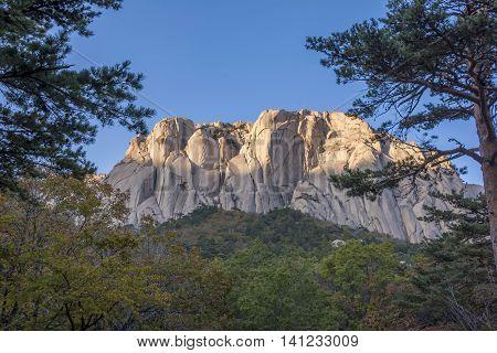 Famous Mount Soraksan Nation Park, South Korea.