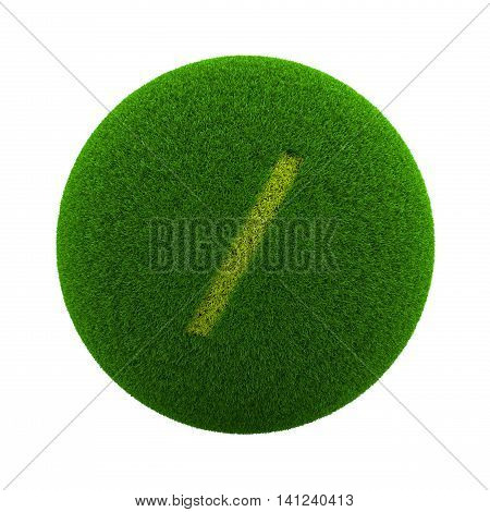 Grass Sphere Slash Text Icon