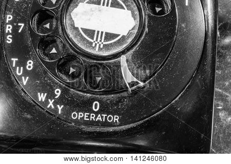 Old Art Deco Phone - Antique Rotary Dial Telephone II