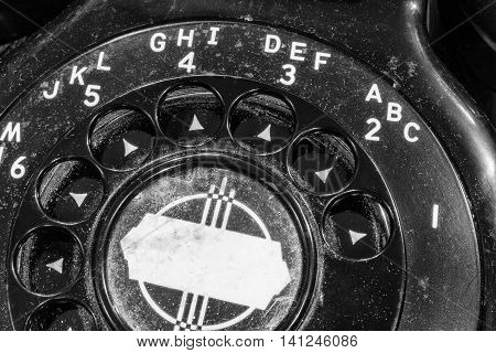 Old Art Deco Phone - Antique Rotary Dial Telephone I