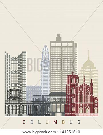 Columbus Oh Skyline Poster