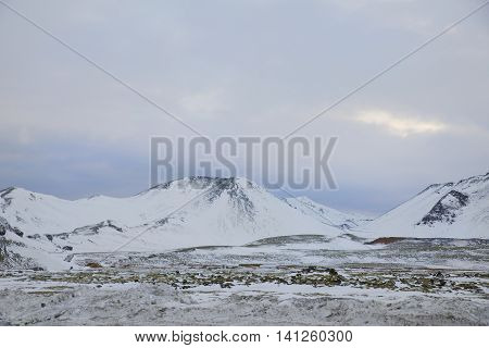 view of the icey mountain in Iceland 2014