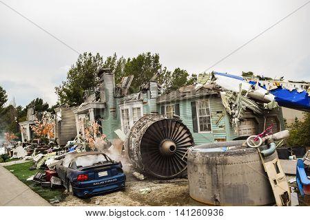 Universal Airplane Crash Scene
