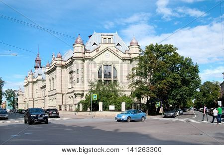 SAINT - PETERSBURG, RUSSIA - AUGUST 3, 2016: Oldest building of The State Electrotechnical University