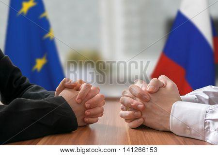 Negotiation Of Russia And European Union. Statesman Or Politicia