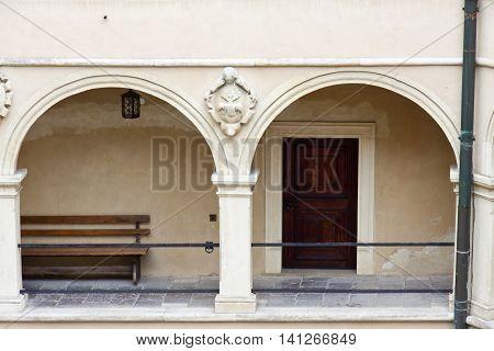 Wooden door - Pieskowa Skala Palace Poland.