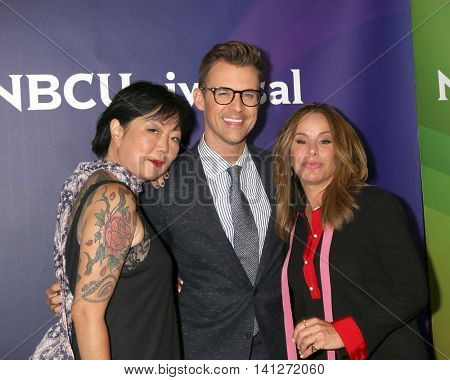 LOS ANGELES - AUG 3:  Margaret Cho, Brad Goreski, Melissa Rivers at the NBCUniversal Cable TCA Summer 2016 Press Tour at the Beverly Hilton Hotel on August 3, 2016 in Beverly Hills, CA