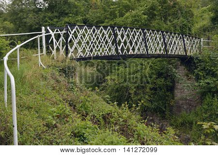 1887 Jubilee Footbridge over the Thames & Severn Canal Thrupp near Stroud Gloucestershire
